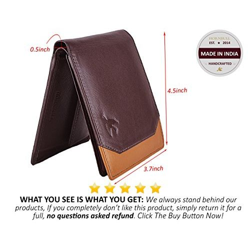 HORNBULL Brown Men's Leather Wallet and Belt Combo -BW3055