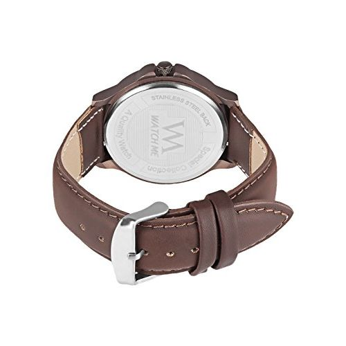 Watch Me X Greywood Men's Brown Leather Wallet & Day Date Analog Watch Combo Gift Set WMGW-010-DDWM-018p4