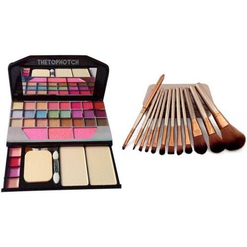 TheTopNotch Makeup Kit 6155 and Naked 3 Makeup Brush Set (12 Peice)