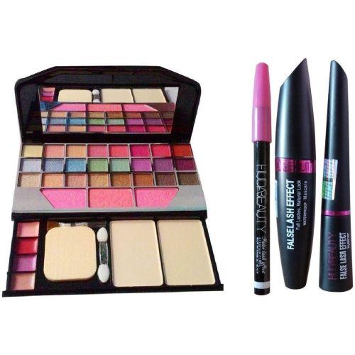 TheTopNotch Makeup Kit 6155 and HudaBeauty EyeLiner & Mascara & EyeBrow Pencil (Huda 3 in 1)