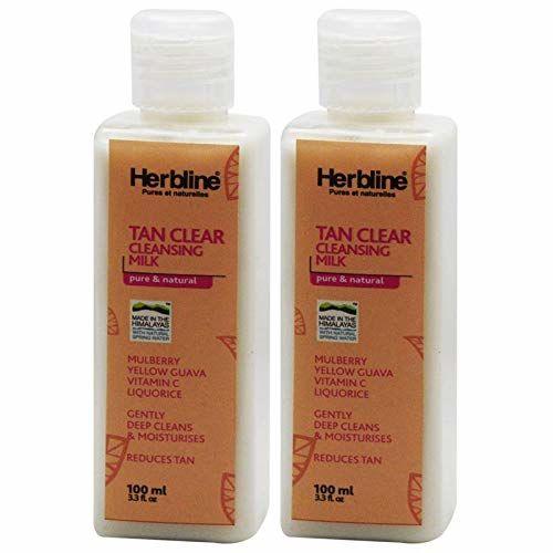 Herbline Tan Clear Cleansing Milk 100ml-Pack Of-2
