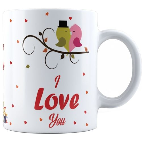 Suvan I Love You Quotes Printed Cremic Coffee Gift For Couple, Girlfriend, Wife(SUWMLV020) Ceramic Mug