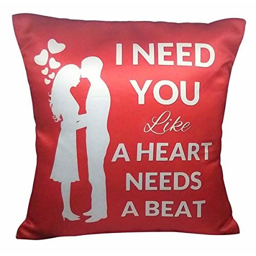 Saugat Traders Valentine Day Love Gift for Her-Wife-Women-Girlfriend - Cushion Cover with Filler