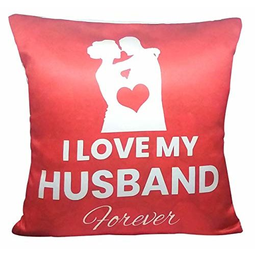 Saugat Traders Valentine Love Gift for Husband - Cushion with Filler Husband Pillow