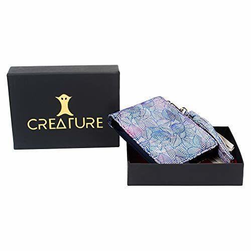 Creature Blue Color Designer Floral Print Zipper Wallet For Girls(Color-Blue||ZWL-08)