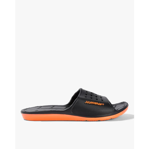 Sole Threads Men Black Maroon APOLLO Slides