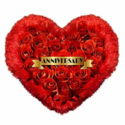 DigiProw Happy Anniversary with ROSESGift Pillow Cushion