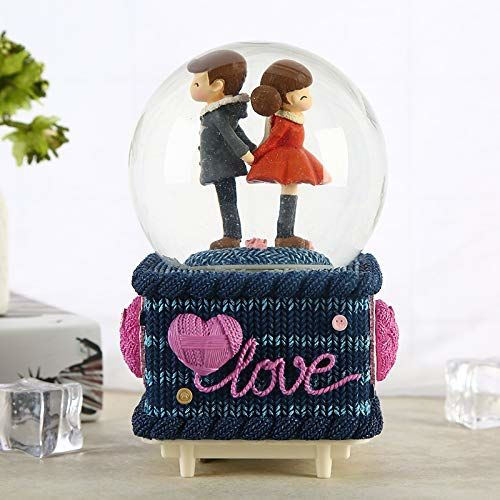 Lilone New Valentine Gift Stylish Love Dome Showpiece Gift for Girlfriend & Boyfriend, Home Decor