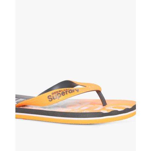 SUPERDRY Embossed Thong-Strap Flip-Flops
