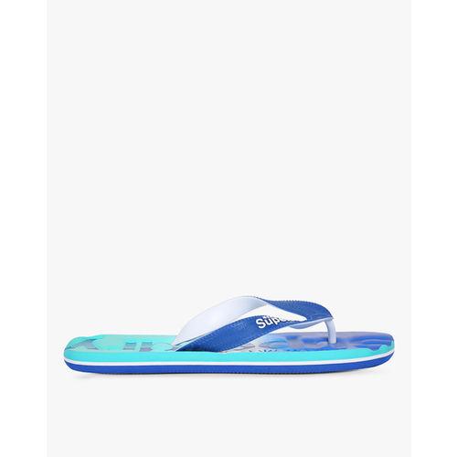 Superdry Men Blue Printed Thong Flip-Flops