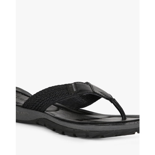 WOODLAND Leather Thong-Strap Flip-Flops