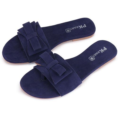 PKKART Blue Synthetic Flats Chappal
