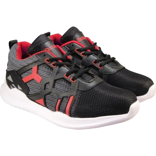 Action Synergy Men's 7310 Black/Red Sports Running Shoes For Men