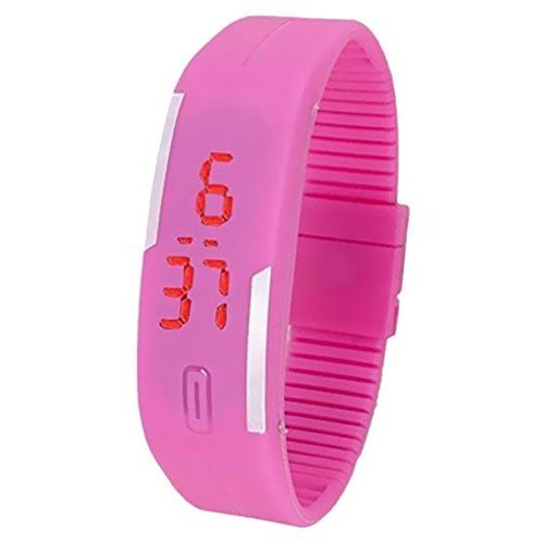 Xurious Enterprise Presents Pink Color Unisex Silicone Digital LED Band Wrist Watch for Boys, Girls, Men, Women