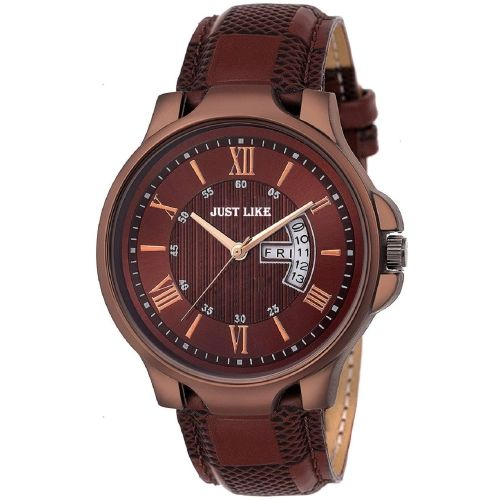 just like 1164-BR Brown Day and Date Unique New Watch
