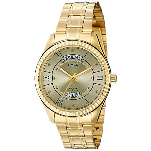 Timex Analog Champagne Dial Men's Watch-TW0TG6202