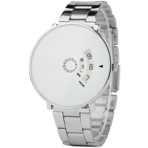 Mitz M-124 White Unique Dial With Steel Body Watch Watch - For Men