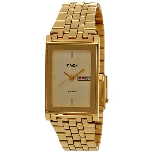 Timex Golden Square Analog Champagne Dial Watch - G310