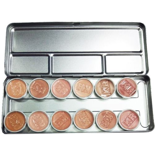 One Personal Care 12 Colors Professional Contouring Palette | Camouflage Foundation With Face Corrector, Highlighter Shades & Concealer