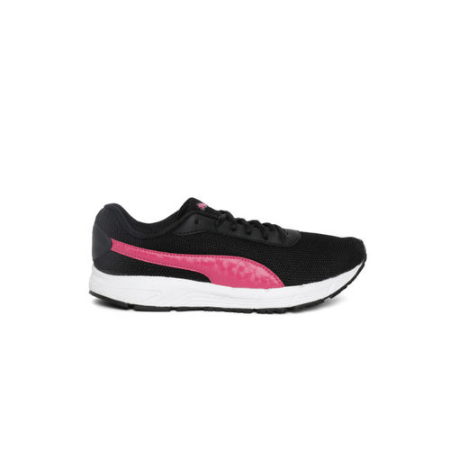 Puma Valor MU Wn s IDP Black-Beetro Women Black Leather Running Shoes