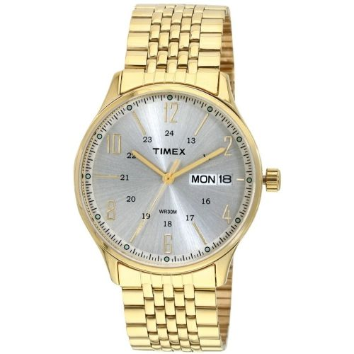 Timex TW0TG6502 Golden Round Analog Watch