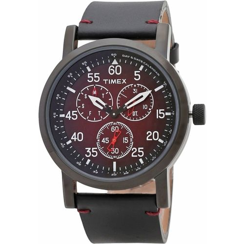 Timex TWEG16604 Black Round Chronograph Watch
