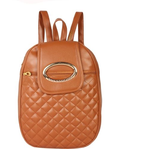 MUSRAT PU Leather Backpack School Bag Student Backpack Women Travel bag 10 L Backpack BROWN 10.0 Backpack