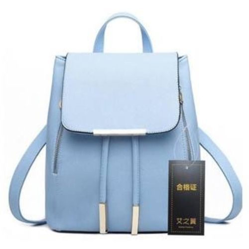 New Eva Blue Pu Solid Backpack