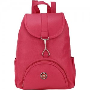 BumBart Pink 5L PU Solid Backpack