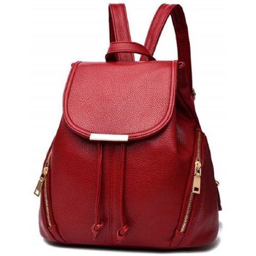 Austin Klein Red Polyurethane Stylish Backpack