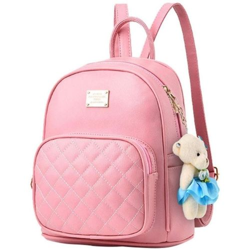 New Eva Pink teddy Solid Backpack For Women