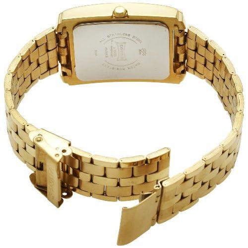 Sonata Golden Square Analog White Dial Watch