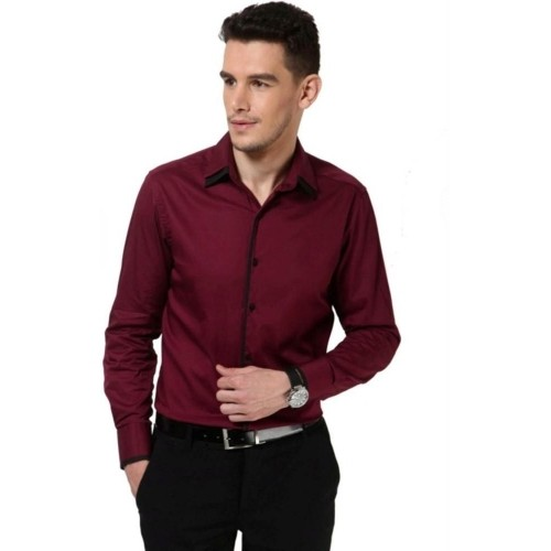 Buy dazzio maroon solid casual party wear shirt online for Where to buy casual dress shirts