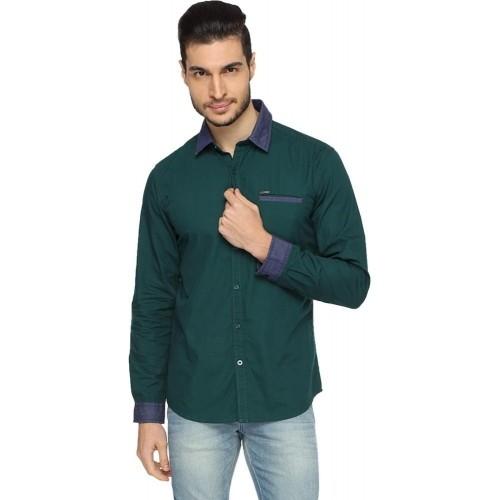 142b8f0c Buy Wrangler Men's Solid Casual, Party Green Shirt online | Looksgud.in