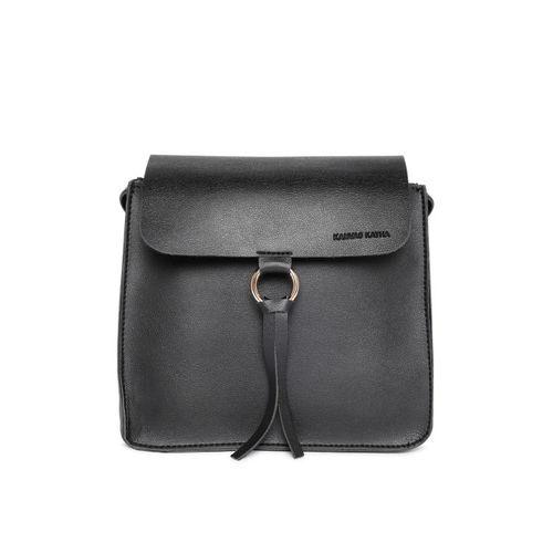 Kanvas Katha Women's Sling Bag (Black)