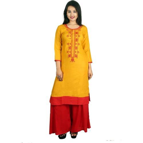 Shalimar Women's Embroidered Straight Kurta