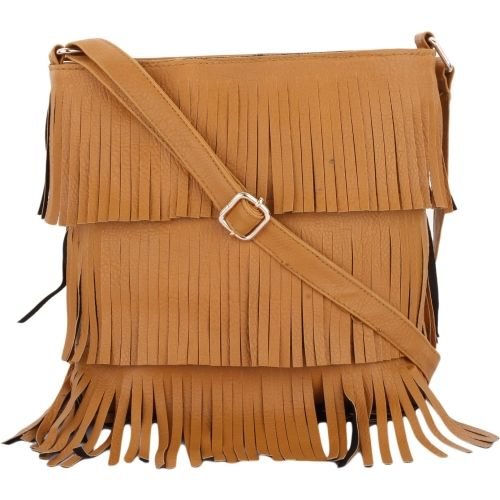 vogue street Tan Polyurethane Casual Sling Bag