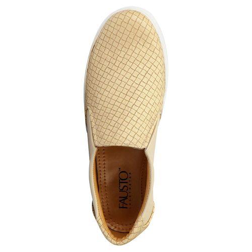 Fausto Men'S Beige Open Loafers