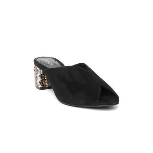 Catwalk Women Black Solid Peep Toes