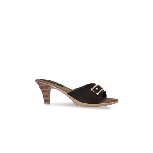 pelle albero Women Black Solid Sandals