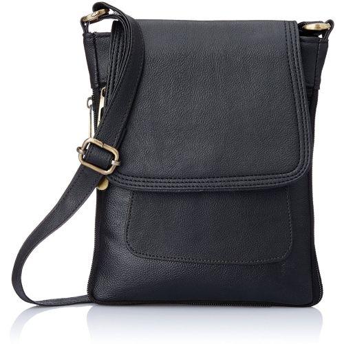 CRYSTLE Women Formal Black PU, Canvas, Rexine, Leatherette Sling Bag