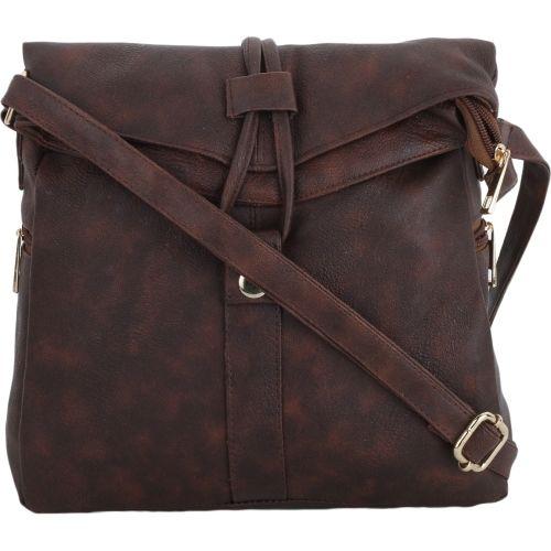 Vogue Street Women Casual Brown PU Sling Bag