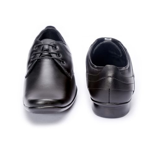 Shoebook Black Soft Genuine Leather Formal Lace UP Shoes