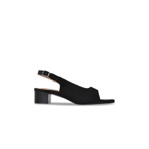 Get Glamr Women Black Solid Peep Toes