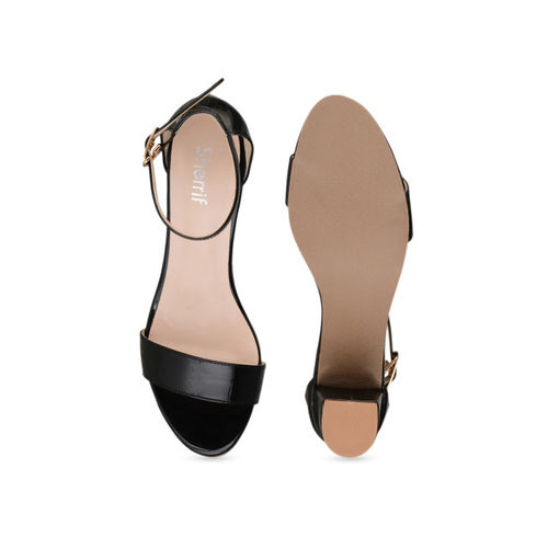 Sherrif Shoes Women Black Solid Sandals