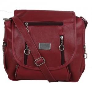 38fbc8dd3b Buy Van Heusen Women Casual Maroon PU Sling Bag online