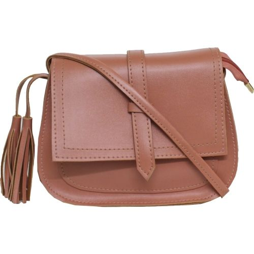 Ravi Collections Women Casual Pink PU Sling Bag