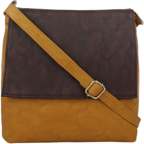 LI LEANE Women Casual Beige, Brown PU Sling Bag
