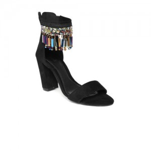 Catwalk Women Black Embellished Heels