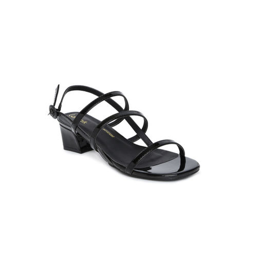 Catwalk Women Black Solid Open Toe Sandals